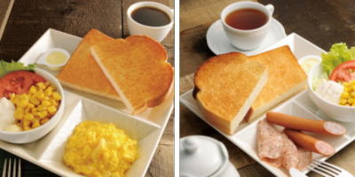 カフェドクリエ朝食メニュー